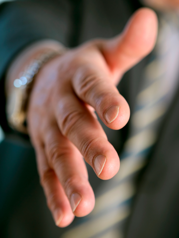 fear of germs through handshakes